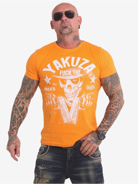 Yakuza T-Shirty Rules zólty