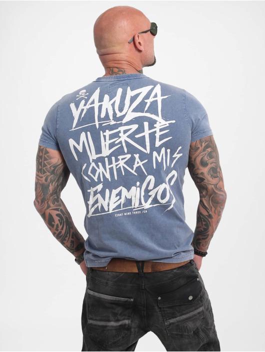 Yakuza T-skjorter Enemigos Acid blå