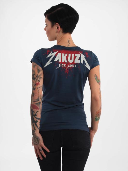 Yakuza T-skjorter Rotting Body V Neck blå