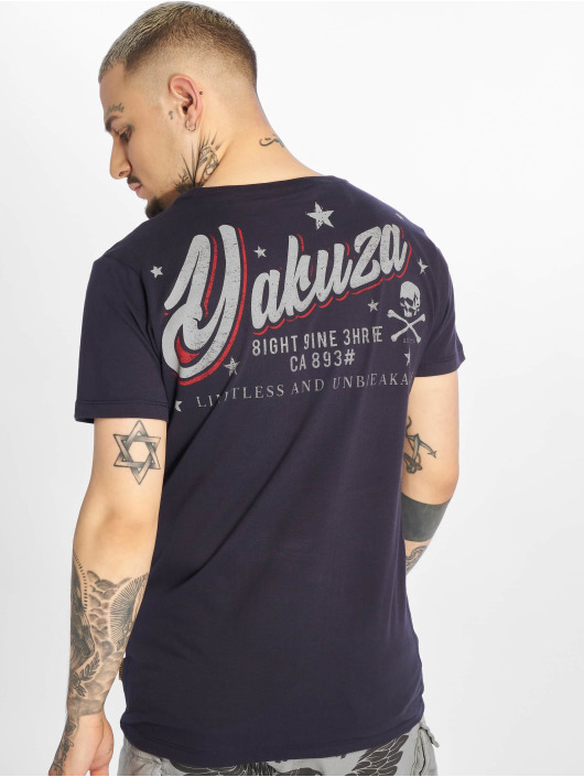 Yakuza T-skjorter Everything Ok blå