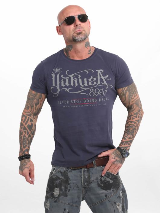 Yakuza T-skjorter Never Stop blå