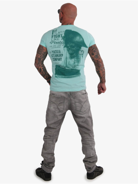 Yakuza T-skjorter Pirates Of The 893 blå