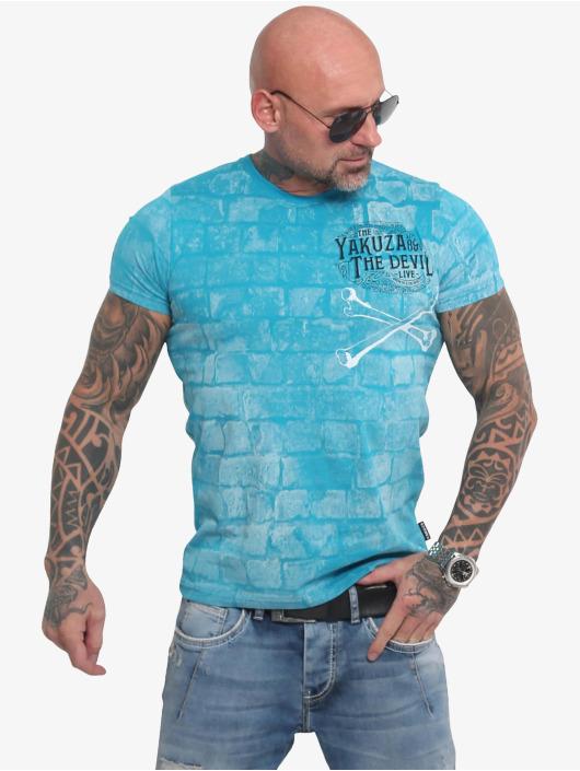 Yakuza T-skjorter The Devil blå
