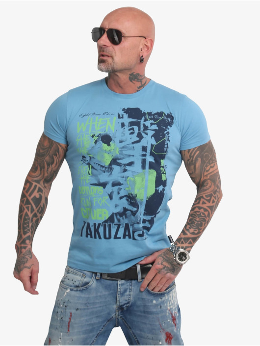 Yakuza T-skjorter Run For Cover blå