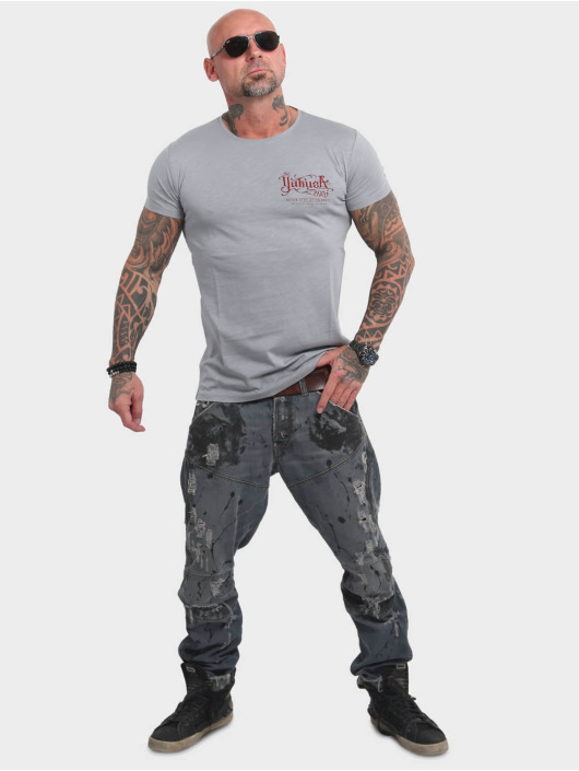 Yakuza T-skjorter Never Stop grå