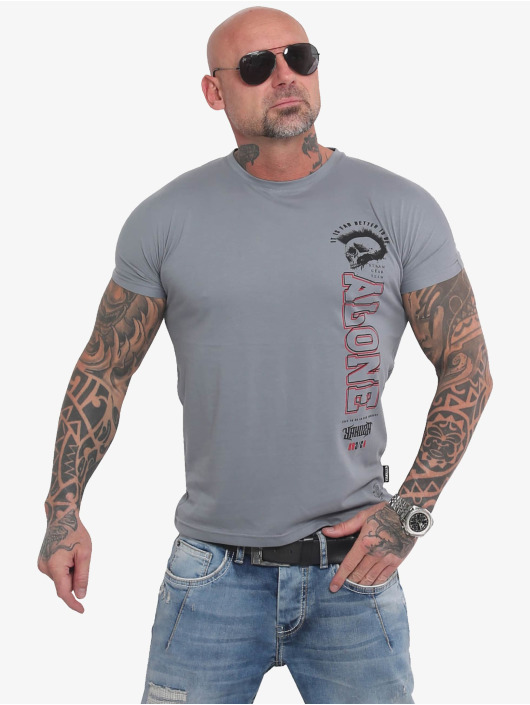 Yakuza T-skjorter Bad Company grå