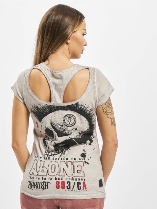 Yakuza T-skjorter Bad Company Racerback grå