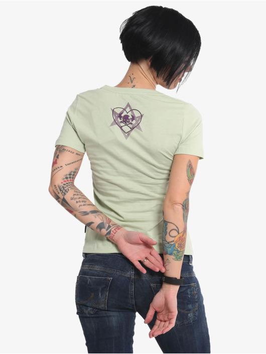 Yakuza T-skjorter Stone V Neck grøn
