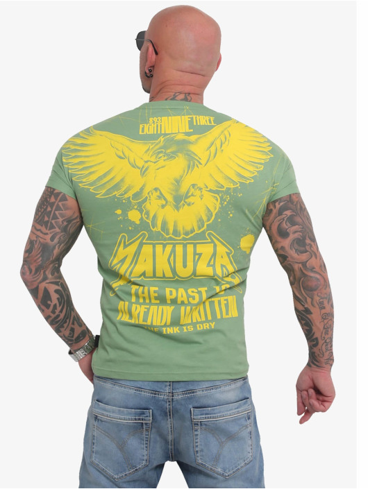 Yakuza T-skjorter Dry Ink grøn
