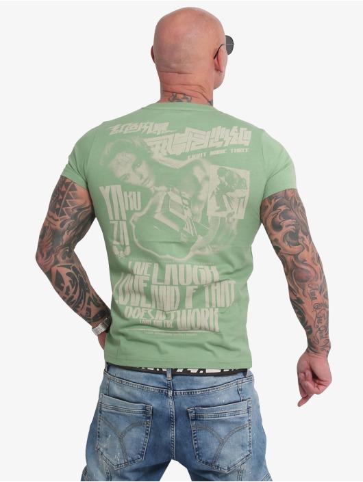 Yakuza T-skjorter Live Laugh Love grøn