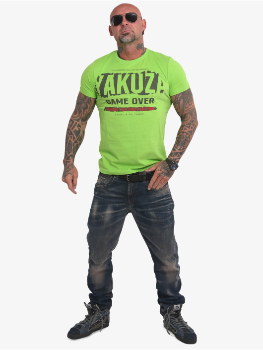 Yakuza T-skjorter Hating Clown grøn