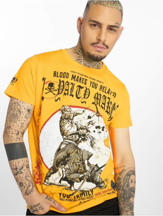 Yakuza T-skjorter Loyality gul