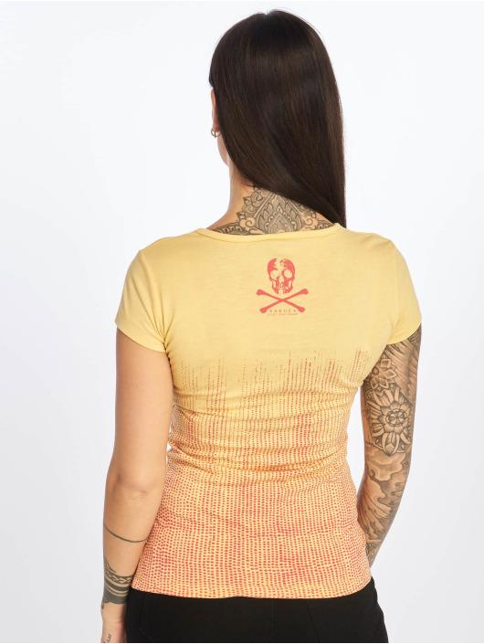 Yakuza T-skjorter Love & Peace gul