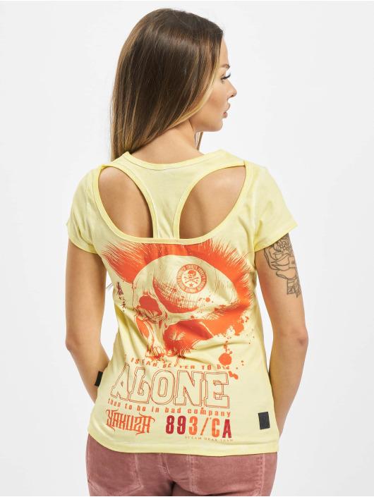 Yakuza T-skjorter Bad Company Racerback gul