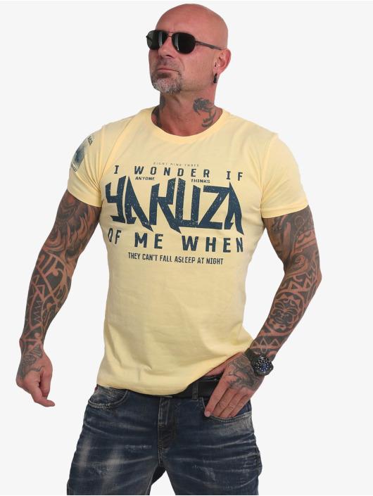 Yakuza T-skjorter Anyone gul