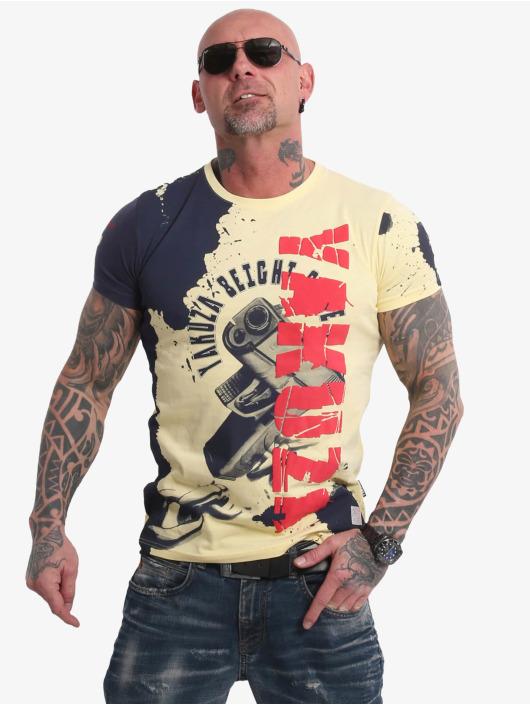 Yakuza T-skjorter Raid gul
