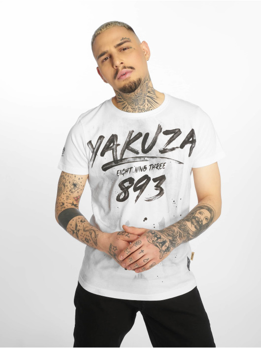 Yakuza T-skjorter Lock Up hvit