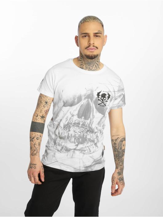 Yakuza T-skjorter Cyber Death hvit
