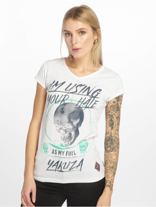 Yakuza T-skjorter Your Hate hvit