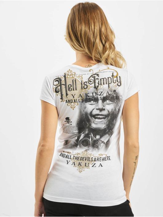 Yakuza T-skjorter Hell Is Empty V Neck hvit