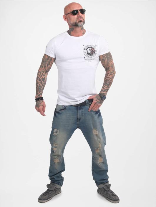 Yakuza T-skjorter Bad Side hvit