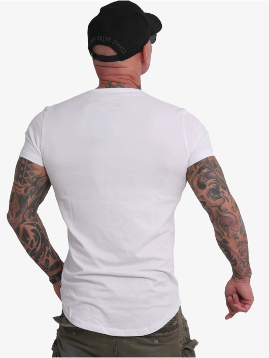 Yakuza T-skjorter Creative Studio Long Tail V-Neck hvit