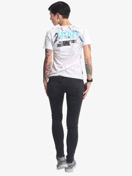 Yakuza T-skjorter My Heart V-Neck hvit