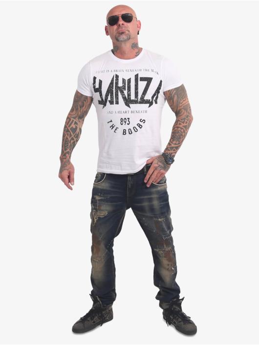 Yakuza T-skjorter Boobs hvit