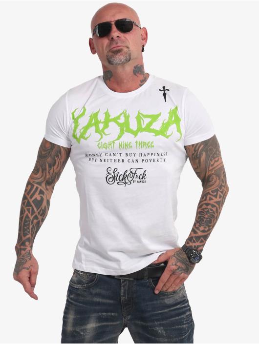 Yakuza T-skjorter Buy Happiness hvit