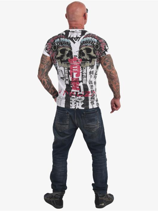 Yakuza T-skjorter Sick Nippon V02 hvit