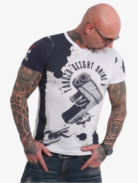 Yakuza T-skjorter Raid hvit