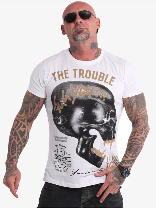 Yakuza T-skjorter FckU hvit