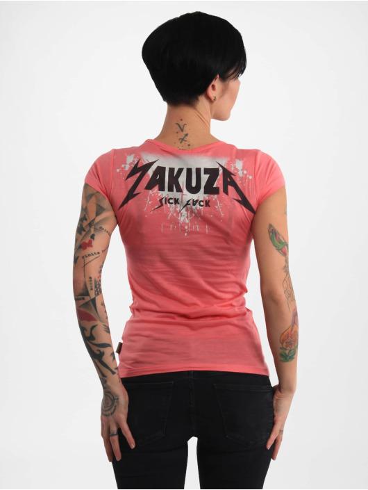 Yakuza T-skjorter Rotting Body V Neck lyserosa