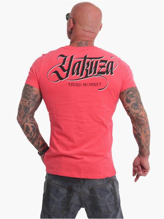 Yakuza T-skjorter Third Monkey lyserosa