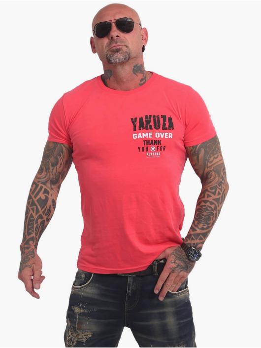 Yakuza T-skjorter Game Over lyserosa