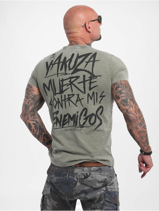 Yakuza T-skjorter Enemigos Acid oliven