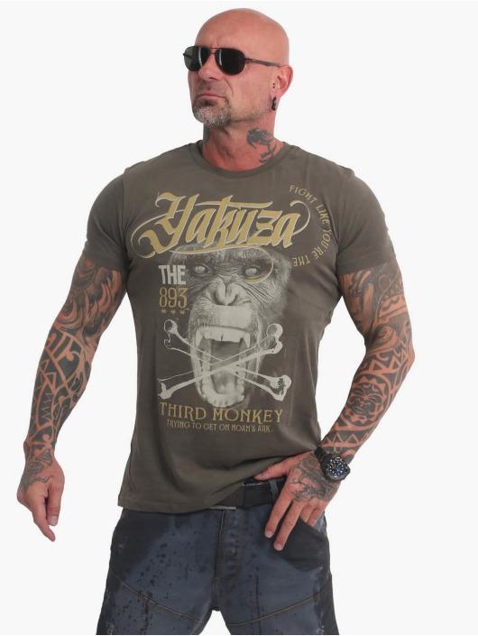 Yakuza T-skjorter Third Monkey oliven