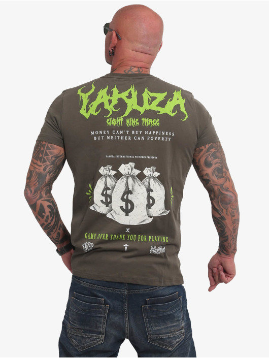 Yakuza T-skjorter Buy Happiness oliven