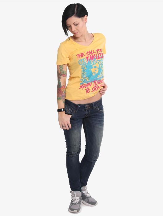 Yakuza T-skjorter Stone V Neck oransje