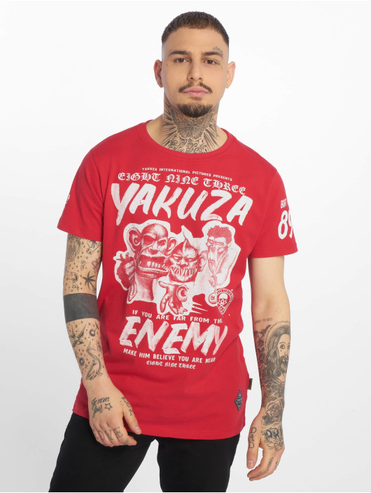 Yakuza T-skjorter Enemy red