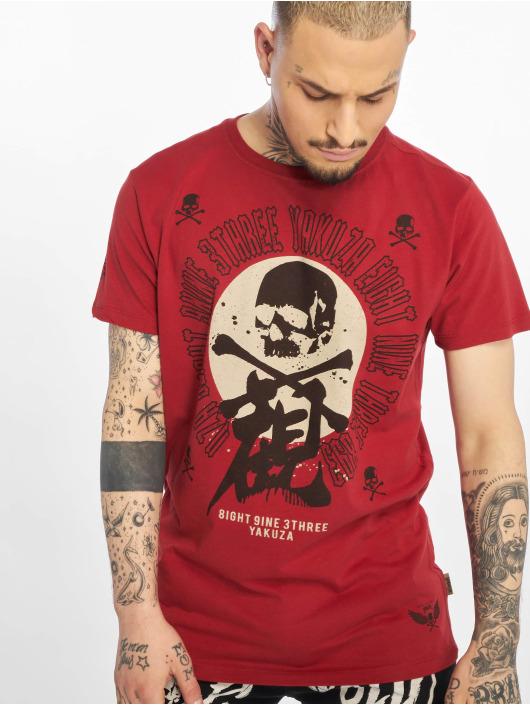 Yakuza T-skjorter Nippon Skull red