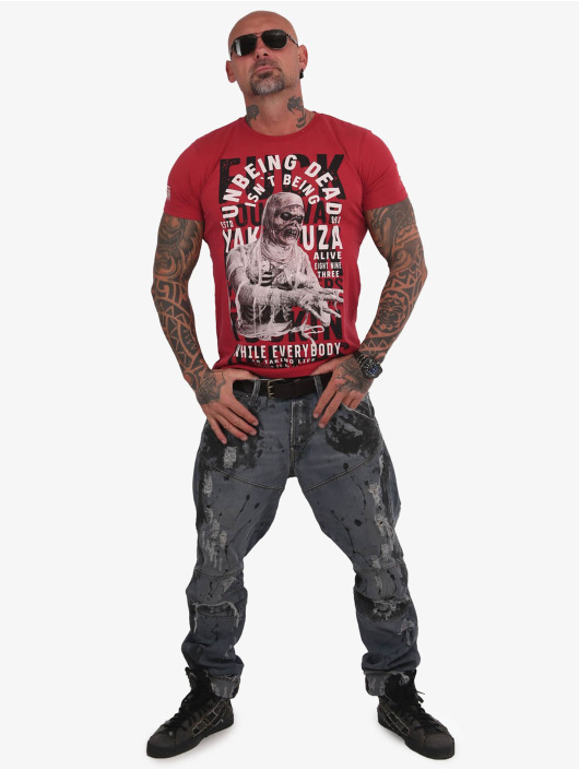 Yakuza T-skjorter Unbeing red