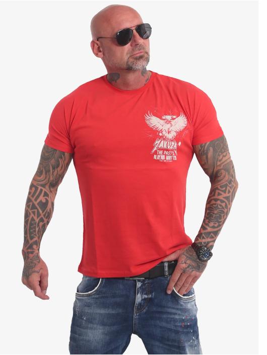 Yakuza T-skjorter Dry Ink red