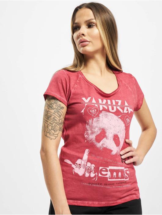 Yakuza T-skjorter Panda Racerback red