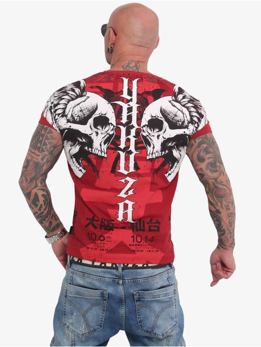 Yakuza T-skjorter Sick Nippon red
