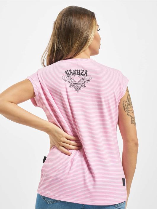 Yakuza T-skjorter Dropping Skull Stripe rosa