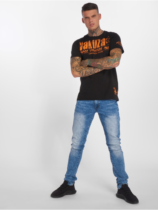 Yakuza T-skjorter Brass Knuckles Crew svart