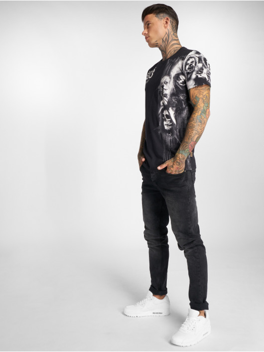 Yakuza T-skjorter Waiting Death svart