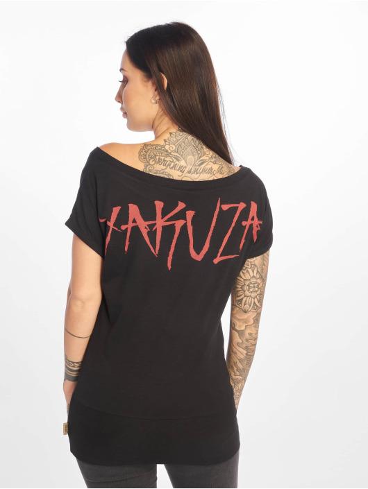 Yakuza T-skjorter Flying Skull svart
