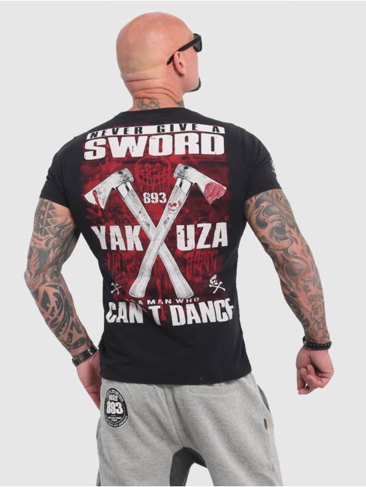 Yakuza T-skjorter Sword svart